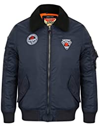 hommes Bomber Tokyo Laundry Veste aviateur VOLANT MANTEAU POLAIRE SHERPA col badge