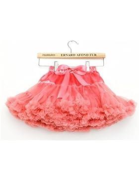 Niñas de capas de volantes Tulle ballet tutú falda 0-10T