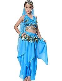 Seawhisper Mädchens Kleid Bauchtanz Chiffon Pailletten Halloween Karneval Kostüme Komplet