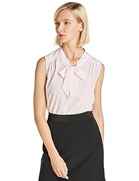 LILYSILK Blusa de Mujer Elegante de Seda Natural 18MM
