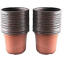 100 macetas de plástico de 10 cm para plantas de guardería, macetas, plantas, contenedores, semillas