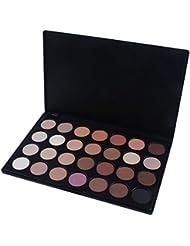LANDFOX 28 color cosméticos de maquillaje neutro ojo cálida paleta de sombra