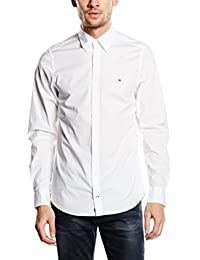 Tommy Hilfiger Men's Stretch Poplin Slim Fit Long Sleeve Casual Shirt