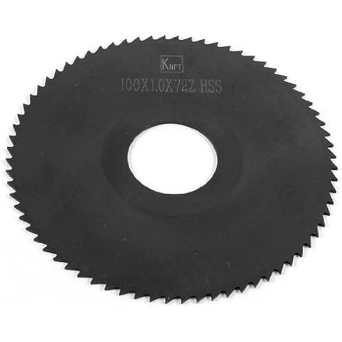 Negro 72 dientes HSS corte 100 mm x 1,0 mm x 27 mm hoja de sierra de agujas para relojes