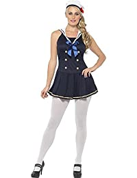 Sailor Girl Navy Costume Fancy Sailor Dress Hat Blue Top Navy Girl Hot Shows Red Carpet Walk Modelling Stage Theatre Play Drama