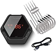 Inkbird IBT-6XS Bluetooth Wireless Grill Thermometer for Smoker Barbecue,6 Probes Digital Oven BBQ Thermometer