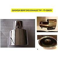 omtec di scarico in acciaio inox punta, per Qashqai adatto a gomito di scarico qs029
