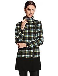 FINEJO New Fashion Elegent Women Slim Long Sleeve Plaids Coat Jacket Top Outwear