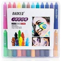 Rrunzfon Pintura Facial con 24 Colores, Maquillaje Pintura Corporal para Cumpleaños, Disfraces y Otras Fiestas Pintura Facial para Niños