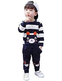 K-youth® Ropa bebe niño otoño invierno Infantil recien nacido Bebé Niño Patrón de panda Tapas manga larga Camisetas blusas + Pantalones largos Conjuntos de ropa