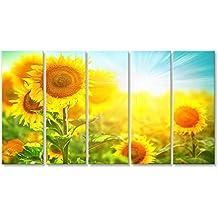 Provence Wandbild Poster Leinwandbild NTG Bild Bilder auf Leinwand Lavendel und Sonnenblumen Felder