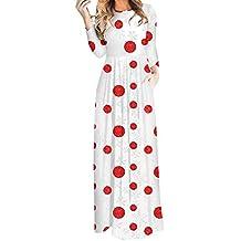 Mujer 3D Impresión Casual Elástico Bohe Vestido,Lonshell Ropa de Mujer 3D Navidad Punto/