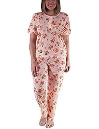 8a2b3ddd5d i-Smalls Ladies Pyjama Set Short Sleeve Floral Printed Women Nightwear Soft  PJs S to