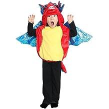 F59 el tamaño 5-6 años traje del dragón para niños pequeños y bebés, cómodo de llevar sobre la ropa normal