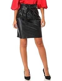 ab7986913c49f Amazon.fr   jupe simili cuir - Femme   Vêtements
