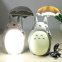 WJHW Kawaii Bande Dessinée Mon Voisin Totoro Umbrella Lampe LED Veilleuse  USB Table De Lecture Lampes ac6e2e0cc11