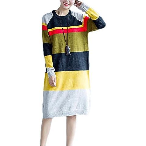 WDYI Invierno nuevas mujeres de gran tamaño de grasa MM color de moda salvaje suéter cardigan largo , colors , one size