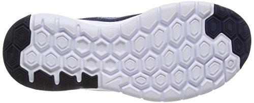 Nike Flex Experience 4 (GS) Unisex-Kinder Laufschuhe Blau (Mid Navy/Sr/Dark Obsidian/Total Orange)