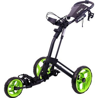 2016 Clicgear Rovic RV2L 3-Wheel Pull/Push Golf Trolley/Cart Charcoal/Lime