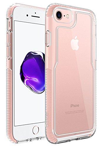 Custodia iPhone 7, ZUSLAB Grado Militare Pesanti Bumper Morbida TPU Silicone Gel Trasparente Crystal Solida (Tactical Air Controllo)