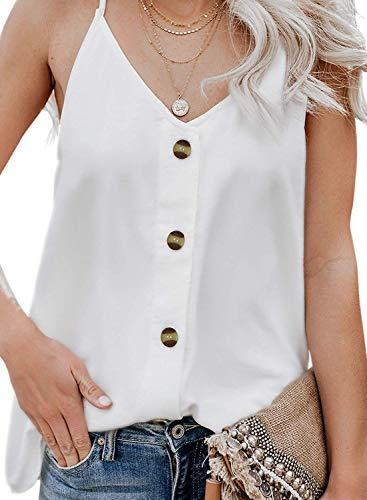 Camiseta Tirantes Mujer Blusa Top Sin Mangas Cami