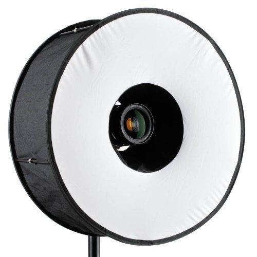 Mcoplus - Magnetic Black Ringblitz-Diffuser für Aufsteckblitze Mobile Softbox 45 cm