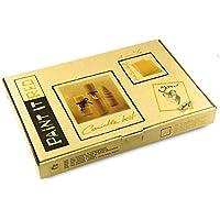 Cómo hacer velas de cera de abeja | Kit de manualidades para hacer 5 velas de cera de abeja | 100% pura cera de abejas de Alemania | Con cinta decorativa y moldes para cortar | Kit para niños