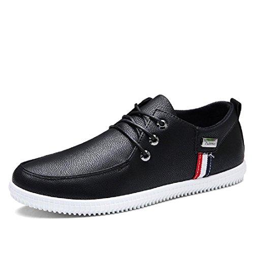 Herren Freizeitschuhe Mode Gemütlich Lässige Schuhe Zuhause Flache Schuhe Black