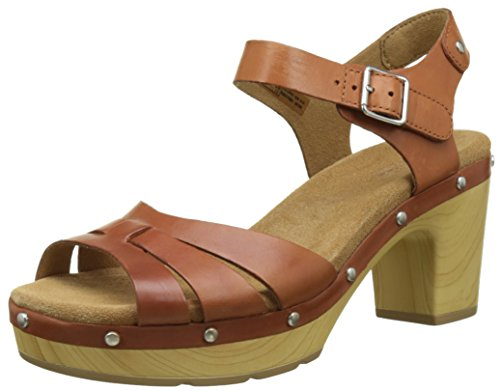 Clarks Damen Ledella Trail Sandalen, Braun (Tan Leather), 39.5 EU (Clarks Damen Clogs Schuhe)