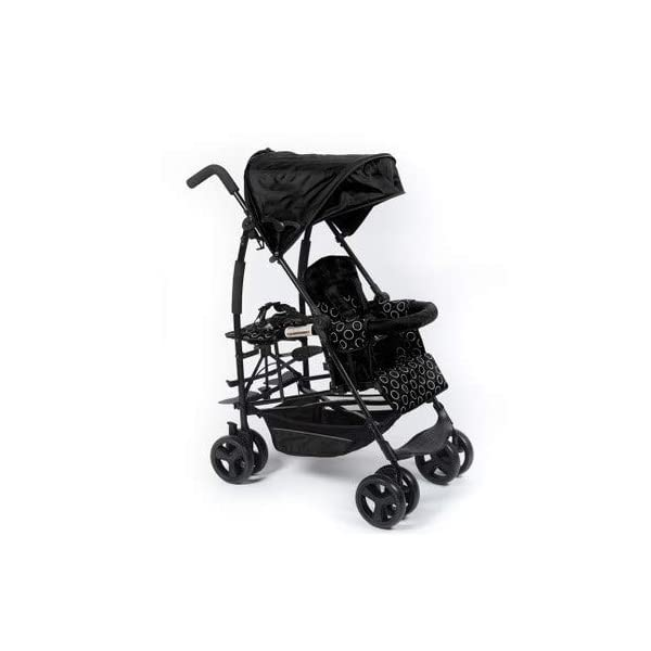 CHEERALL Double Umbrella Strollers Foldable Twin Baby Pushchair Summer Breathable Lightweight Children Buggy with Shock Absorption Wheel from 6 months to 25kg,Black CHEERALL TWIN STROLLER: Getting everywhere with two little ones has never been easier, thanks to the Double Strollers; you can glide around town even when you only have one hand free to steer; you can even roll through a standard size doorway. ADJUSTABLE BACKREST & FOOTREST:The backrest can adjust to fit baby's sleep posture to keep comfortable sleeping. And the foot rest can be adjusted to fit the baby's leg with the increasing age.The pushchair can be folded into the trunk of the car. SAFETY WHEELS & 5-POINT SAFETY BELTS:Four-wheel spring absorb shocks, front wheel orientation, rear wheel brake for easy to control direction and safety. The 5-point safety belt is equipped with each seat to ensure security while keeping your baby fit to the safety belt to feel comfortable. 1