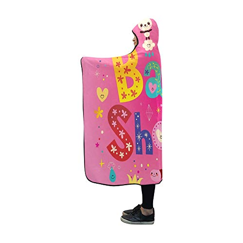 ecke Baby-Dusche-Karte Cute Panda Bears Blanket 60 x 50 Zoll Comfotable Mit Kapuze werfen Wrap ()