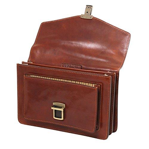 Tuscany Leather Eric - Borsello in pelle a tracolla - TL141443 (Miele) Testa di Moro