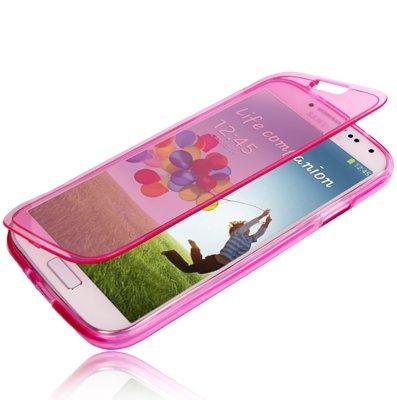 tpu-flip-cover-transparente-colore-magenta-per-samsung-galaxy-s6-edge-linea-trendy-di-aq-mobile