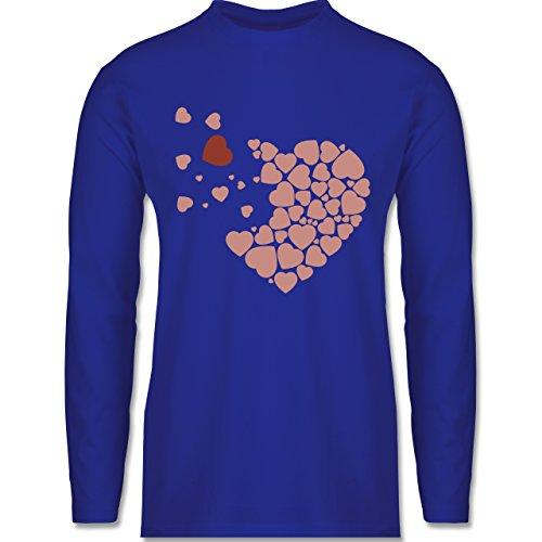 Shirtracer Romantisch - Herz Herzchen - Herren Langarmshirt Royalblau