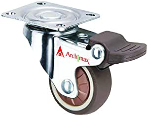 Archimax Silent High Grip Bearing Caster Wheel (25 mm) - Set of 4 Pieces