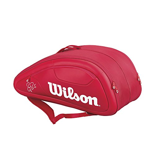 WILSON Federer Dna Custodia per 12Racchette, Unisex, Federer Dna 12er, Rot, 750 x 40 x 33 cm, 70 Liter