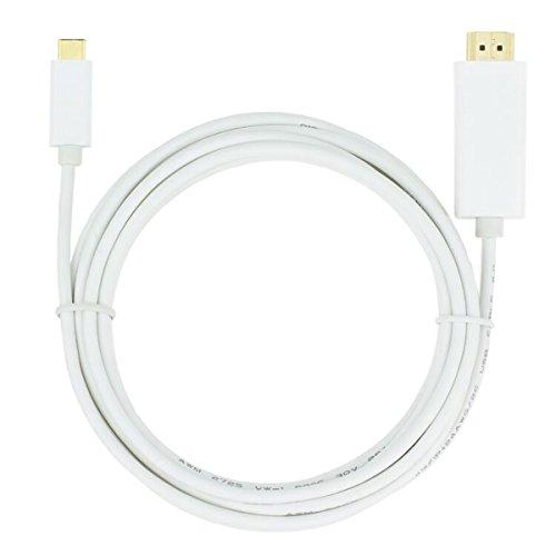USB-C tipo C USB 3.1macho a cablecc HDMI 1.8M 1080P HDTV Cable adaptador para Macbook y Chrombook & Lapto cableccp