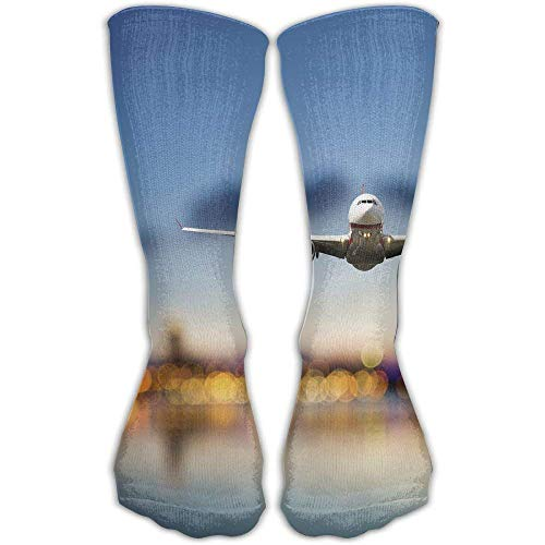 Unisex Airplane-plane Funny High Athletic Stockings Long Socks Sports Outdoor One Size 30cm For Men Women Smartwool Striped Hat