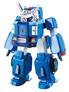 Super Wings- Series 1 EU720315 Transforming Vehicle Paul Flugzeug und Fahrzeug verwandelbar, Blau, 18 cm (Alpha Animation & Toys Ltd