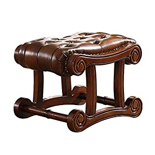 HQQ European Small Sofa Bench,Living Room Side Stool American Shoe Bench 59 * 40 * 41cm (color : BROWN)