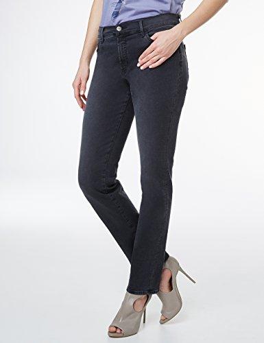 Pioneer Damen Straight Jeans Kate Schwarz (black 17)