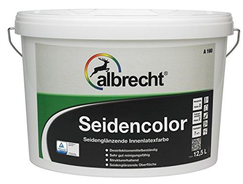 Albrecht Seidencolor A 160 weiß seidenglänzend 2,5 liter Latexfarbe mit sehr guter Reinigungsfähigkeit,hervorragende Verarbeitung,Eigenschaften und Deckvermögen,