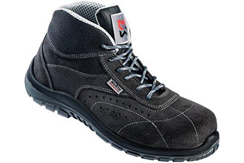 Song Plus S1P Sicherheitsstiefel - Schuhe EN ISO 20345 S1P für Innenbereiche geeignet - Arbeitsschuhe mit Durchtrittschutz Gris Foncé