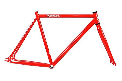 FabricBike - Fahrrad Rahmen mit Gabel, viele Farben alle Größen , Hi-Ten Stahl, Fixed Gear, Single Speed Frame (Red, S-49)