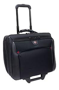 "Wenger Swissgear Potomac Laptop Roller Case, inc Matching Laptop Case, fits upto 15.4"", black"