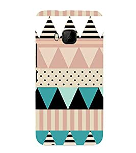 EPICCASE dots and angles Mobile Back Case Cover For HTC One M9 (Designer Case)