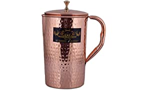 Crockery Wala And Company Pure Copper Water Jug Pitcher,1500 ml