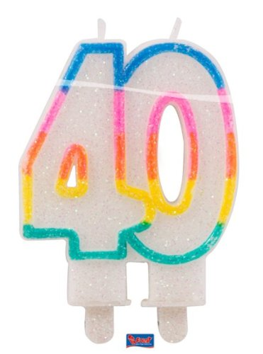 Folat Glitterkerze 40 Geburtstag Jubiläum