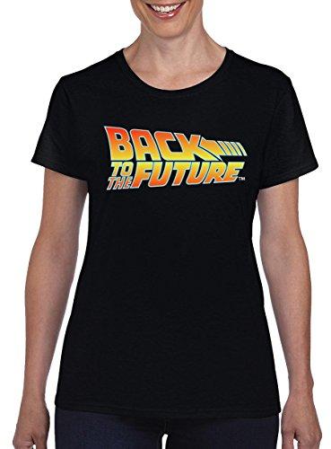 TSP Zurück in die Zukunft Logo Damen T-Shirt XXL Schwarz (Konsole Vault)