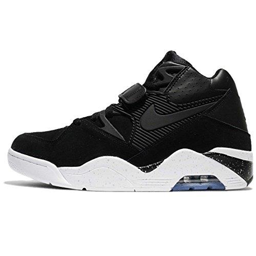 Nike Air Force 180, Sneaker a Collo Alto Uomo Schwarz (Black-White 003)